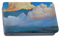 Portable Battery Charger featuring the painting Cloud On The Rise by Gary Coleman
