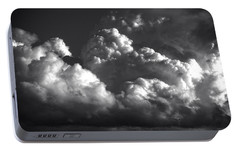 Portable Battery Charger featuring the photograph Cloud Power Over The Lake by John Norman Stewart