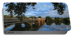 Portable Battery Charger featuring the photograph Cloud Reflections On The Yakima River by Lynn Hopwood