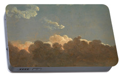 Portable Battery Charger featuring the painting Cloud Study. Distant Storm by Simon Denis