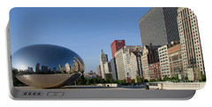 Cloudgate Reflects Michigan Avenue  Portable Battery Charger