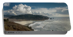 Clouds Above Coast Pano Portable Battery Charger by Greg Nyquist