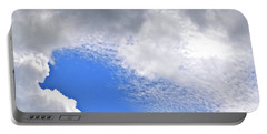 Clouds And Blue Skies Portable Battery Charger by Tara Potts