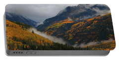 Clouds And Fog Encompass Autumn At Mcclure Pass In Colorado Portable Battery Charger