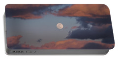 Portable Battery Charger featuring the photograph Clouds And Moon March 2017 by Terry DeLuco