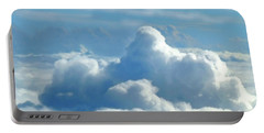 Portable Battery Charger featuring the digital art Clouds And Sky M2 by Francesca Mackenney