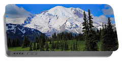 Portable Battery Charger featuring the photograph Clouds Clearing At Mount Rainier 2 by Lynn Hopwood