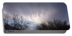 Portable Battery Charger featuring the painting Clouds In Desert by Mordecai Colodner