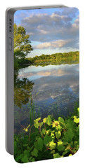 Clouds Mirrored In Snug Harbor Portable Battery Charger