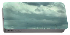 Clouds On The Bay Portable Battery Charger by Kim Nelson