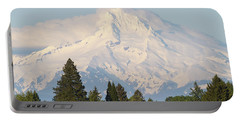 Clouds Over Mount Hood Closeup Portable Battery Charger