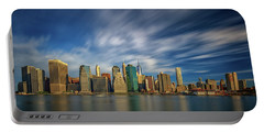 Clouds Over New York Portable Battery Charger by Rick Berk