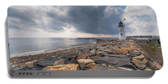 Clouds Over Old Scituate Light Portable Battery Charger