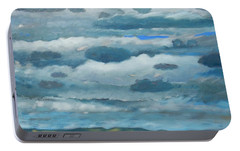 Portable Battery Charger featuring the painting Clouds Over South Bay by Gary Coleman