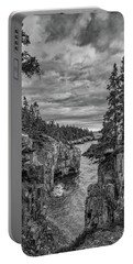 Clouds Over The Cliffs Portable Battery Charger