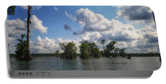 Clouds Over The Louisiana Bayou Portable Battery Charger