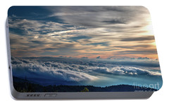 Portable Battery Charger featuring the photograph Clouds Over The Smoky's by Douglas Stucky