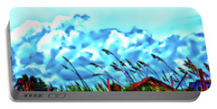 Clouds Over Vilano Beach Portable Battery Charger