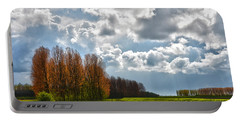 Clouds Over Voorne Portable Battery Charger by Frans Blok