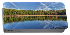 Clouds Over Walden Pond Portable Battery Charger