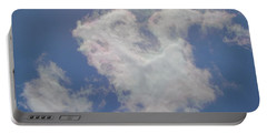 Clouds Rainbow Reflections Portable Battery Charger by Cindy Croal