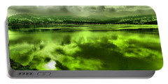 Portable Battery Charger featuring the photograph Clouds Reflecting Off The Columbia  by Jeff Swan