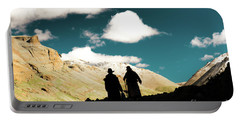 Portable Battery Charger featuring the photograph Clouds Way Kailas Kora Himalayas Tibet Yantra.lv by Raimond Klavins
