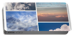 Portable Battery Charger featuring the photograph Cloudscapes Collage by Jenny Rainbow
