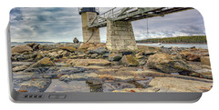 Portable Battery Charger featuring the photograph Cloudy Day At Marshall Point by Rick Berk