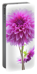 Cloudy Day Dahlia Portable Battery Charger by Mark Alder