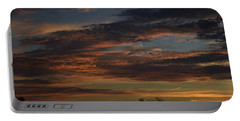 Cloudy Kansas Evening Portable Battery Charger by Mark McReynolds