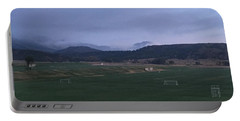 Portable Battery Charger featuring the photograph Cloudy Morning At The Field by Christin Brodie