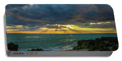 Cloudy Morning Rays Portable Battery Charger by Tom Claud