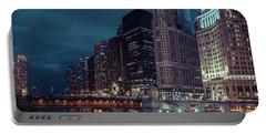 Cloudy Night Chicago Portable Battery Charger
