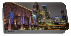 Portable Battery Charger featuring the photograph Cloudy Night In Houston by David Morefield