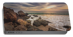 Cloudy Point Dume Sunset Portable Battery Charger