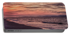 Portable Battery Charger featuring the photograph Cloudy Sunrise At The Beach by John McGraw