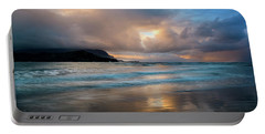 Portable Battery Charger featuring the photograph Cloudy Sunset At Hanalei Bay by John Hight