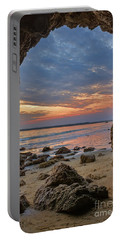 Cloudy Sunset At Low Tide Portable Battery Charger