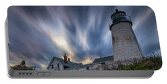 Cloudy Sunset At Pemaquid Point Portable Battery Charger