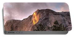 Cloudy Sunset Horsetail Falls Portable Battery Charger