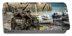 Portable Battery Charger featuring the photograph Clovelly Crab Trap by Nick Bywater