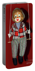 Portable Battery Charger featuring the photograph Clown On Swing By Kaye Menner by Kaye Menner