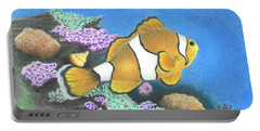 Clownfish Portable Battery Charger by Troy Levesque