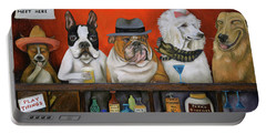 Club K9 Portable Battery Charger by Leah Saulnier The Painting Maniac