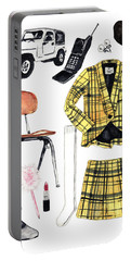 Clueless Movie Collage 90's Fashion Portable Battery Charger