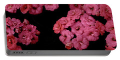 Clusters Of Pink Portable Battery Charger by Tim Good