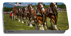Portable Battery Charger featuring the photograph Budweiser Clydesdale Horses by Robert L Jackson