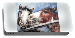 Clydesdale Pair Portable Battery Charger