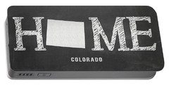 Portable Battery Charger featuring the mixed media Co Home by Nancy Ingersoll